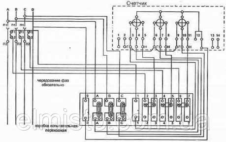 Схема подключения счетчика и