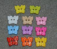 Швейные детские пуговицы бабочки. 10 * 12 мм