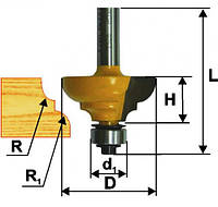 Фреза кромочная калевочная ф33.3х16, r6.4, хв.8мм (арт.9251)