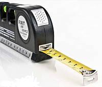 Уровень лазерный с рулеткой. 3х1. Универсальный