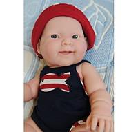 Berenguer, кукла пупс Лукас в синем комбинезоне 36 см