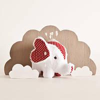 Мягкая игрушка авторской ручной работы слон белый  подушка для булавок