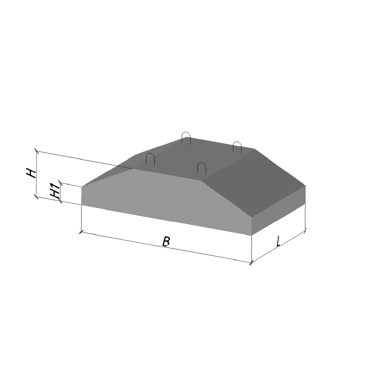 Фундаментная подушка фл14-12-2 (1400х1180х300)