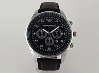Мужские часы Emporio Armani цвет корпуса серебро, циферблат черный