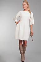 ODDI 9879 : Белое платье, из мягкой валенной шерсти (42-50 размеры)