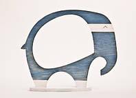 Фоторамка ручной работы слон серо-голубой