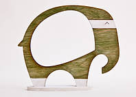 Фоторамка ручной работы слон оливковый