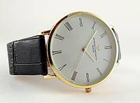 Мужские часы Vacheron Constantin кварцевые, цвет корпуса gold, белый циферблат