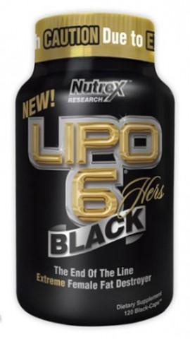 Жиросжигатель Lipo-6 Black Hers Nutrex 120 caps