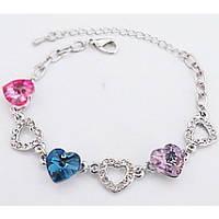 Браслет с австрийскими кристаллами Heart Multicolor