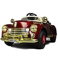 Детский электромобиль Buick 8888 RETRO-бордовый@(резиновые колеса)