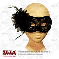 """Черная маска венецианская """"Бальная""""."""