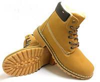 Женские ботинки на шнуровке, зимние ботинки черние, желтие