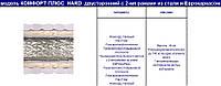 Комфорт Плюс ХАРД двусторонний - Ортопедический матрас на пружинном блоке