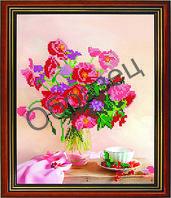 """Схема для вышивки бисером """"Цветы в вазе"""""""