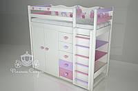 """Кровать-чердак детская """"Золушка"""" Pink"""