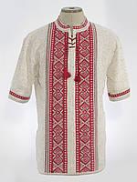 Вязаная вышиванка мужская с коротким рукавом | В'язана вишиванка чоловіча з коротким рукавом