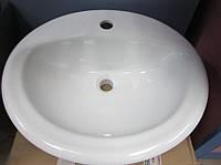 Умывальник врезной овальный керамический 45х53х14