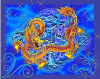 """Схема для вышивки бисером """"Золотой дракон"""""""