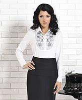 Женская блуза белого цвета с длинным рукавом. Модель Iryda Top-Bis, коллекция осень-зима 2015.