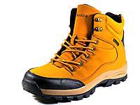 Зимние ботинки мужские нубук песочные на меху, фото 1
