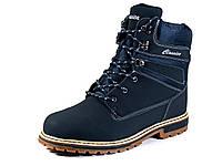 Синие зимние ботинки мужские нубук на меху, фото 1