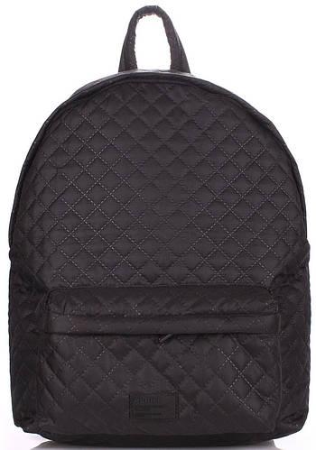 Женский болоневый стеганый рюкзак 17 л. Poolparty Theone-black