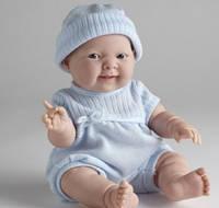 Berenguer, кукла пупс Лукас в голубом комбинезоне 36 см