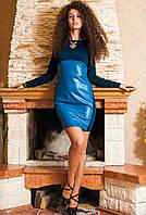 Платье с кожаными вставками, фото 1