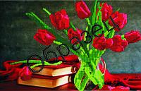 """Схема для вышивки бисером """"Красные тюльпаны"""""""