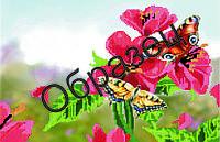 """Схема для вышивки бисером """"Бабочки в цветах"""""""