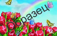 Схема для вышивки бисером «Тюльпаны и бабочки»