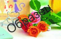 Схема для вышивки бисером «Розы в кафе»