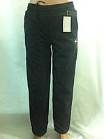 Теплые подростковые брюки плащевка на флисе для детей от 6 до 12 лет
