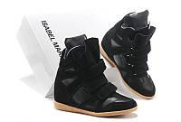 Сникерсы Isabel Marant - Bekket Wedge Sneakers In Black, фото 1
