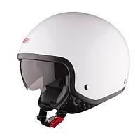 Шлем (открытый с очками) LS2 OF561 WAVE белый глянцевый