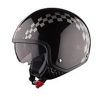 Шлем (открытый с очками) LS2 OF561 DINOCO черный глянцевый