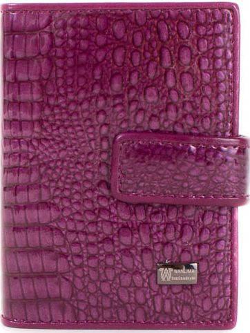 Оригинальная, стильная женская  визитница WANLIMA (ВАНЛИМА) W62081170457-purple