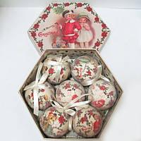 """Набор матовых шаров в подарочной упаковке """"Дети"""" 7 шт."""