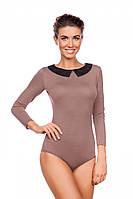 Эксклюзивная боди-блузка, комбидресс с контрастным кружевным воротничком 200 Viva la Donna разные цвета