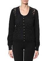 Женский пуловер черного цвета DEANNA FREEQUENT  в размере L