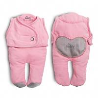 Спальный мешок для детей от рождения до 6-8 месяцев kiddy bliss / цвет: розовый