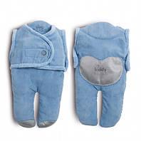 Спальный мешок для детей от рождения до 6-8 месяцев kiddy bliss / цвет: голубой