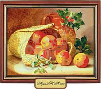 Схема для вышивки бисером  «Яблочный натюрморт»
