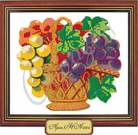 Схема для вышивки бисером «Виноград в корзине»