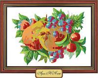 Схема для вышивки бисером «Грушево-виноградный натюрморт»