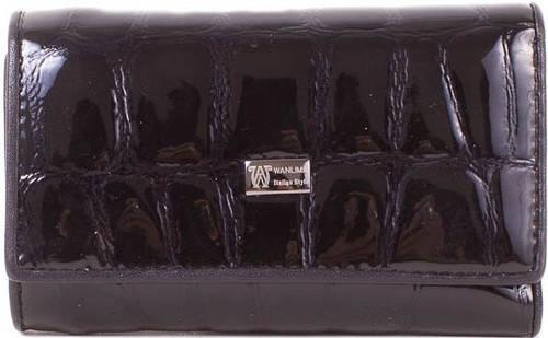 "Ключница-кошелек из натуральной кожи ""под рептилию"" WANLIMA (ВАНЛИМА) W50092146-black"