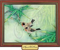 Схема для вышивки бисером «Птицы на ветке»