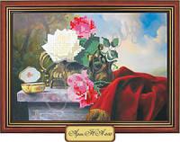 Схема для вышивки бисером «Розы на столе»