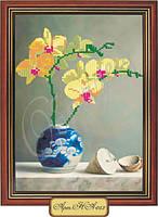 Схема для вышивки бисером «Орхидеи»